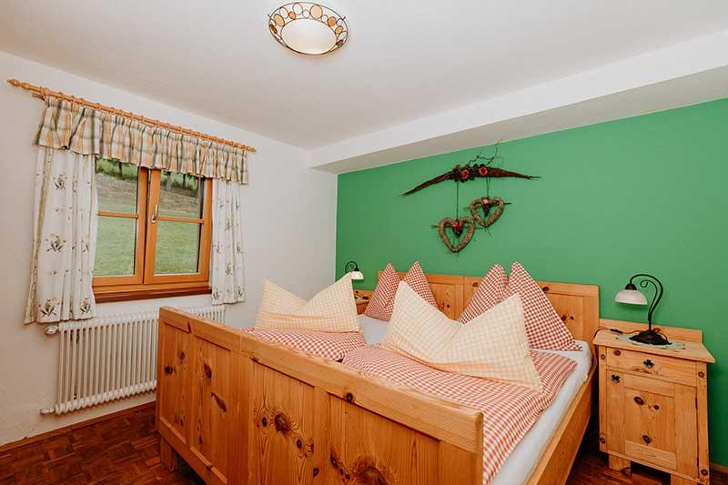 Bett im Zimmer Hauswiese.